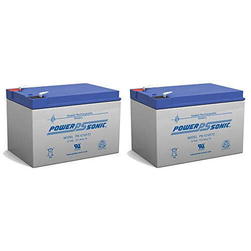 Power Sonic 12V 12Ah F2 Dalton Medical BAT-1212 Wheelchair Replacement Battery - 2 Pack