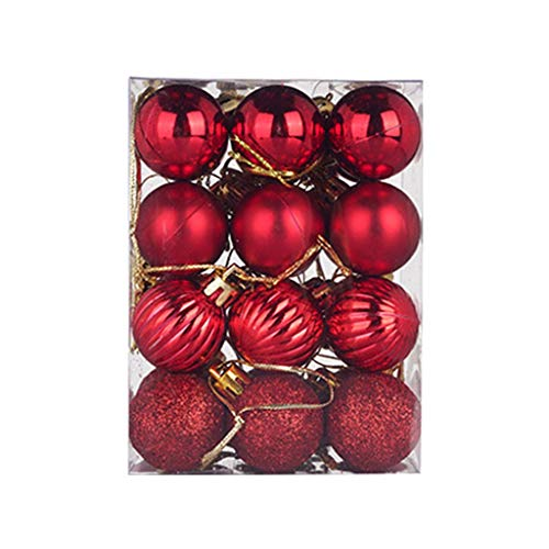 Christmas Balls Ornaments 6/24Pcs for Xmas Christmas Tree Ball Christmas Tree Ornaments Hanging Ball for Holiday Wedding Christmas Party Decoration Home Decor