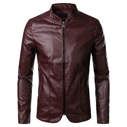 Yczx Mens Leather Jacket Biker Jacket Mens Jackets Casual Smart Autumn Winter Warm Motorbike Faux Leather Jackets Vintage Claasic Fashionable Outwear Tops Coat 4XL