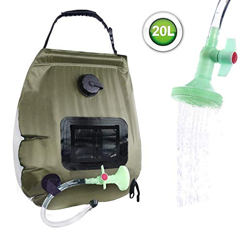 Learn More About Beaucares Solar Shower Bag,5 Gallons/20L Portable Heating Camp Shower Bag with with...