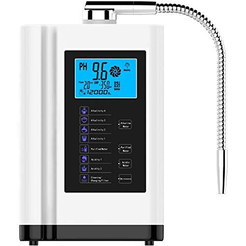 GRASSAIR LCD Touch Control pH 3,5-10.5 ácido alcalino máquina 6000l Filtro de Agua Auto-Limpieza ionizador Agua purificador