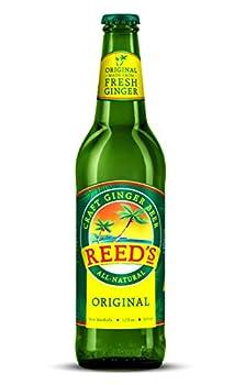 Reed s Original Ginger Beer Great Tasting All Natural Craft Ginger Beer with Fresh Ginger Root  12OZ Bottle