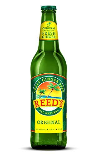 Reed's, Original Ginger Beer, Great Tasting All Natural Craft Ginger Beer with Fresh Ginger Root (12OZ Bottle)