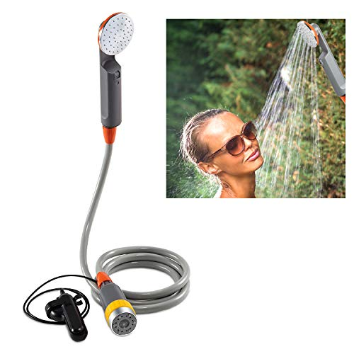Ivation Portable Camping Shower | Compact Handheld & Hands-Free Rechargeable Outdoor Shower Head &...