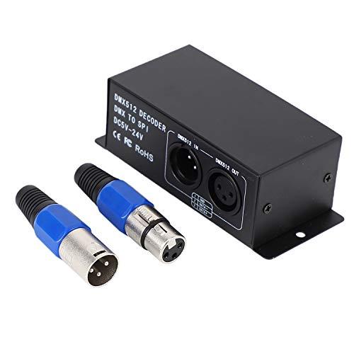 SODIAL LED Licht Controller Arbeiten 5-24V Rgbw Dmx512 Decoder Dmx To Spi Si für Lichter Ketten