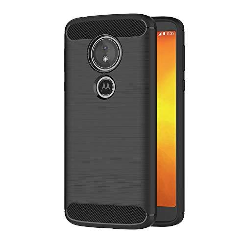 AICEK Moto E5 Hülle, Schwarz Silikon Handyhülle für Motorola Moto E5 Schutzhülle Karbon Optik Soft Case (5,7 Zoll)