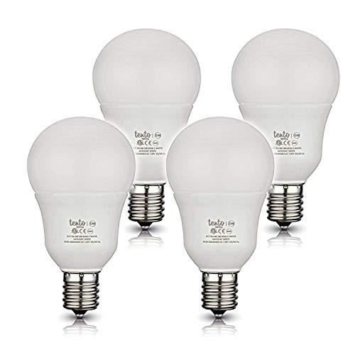 Tento Lighting E17 Globe Intermediate Base, Living Space Daylight Incandescent Energy Saving Light Bulbs, Cool White, 120v 40w - 40w (5000k) (4/Pack)