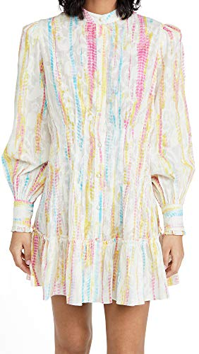 Hemant and Nandita Women's Cover Up Shirtdress, Multicolor, X-Large
