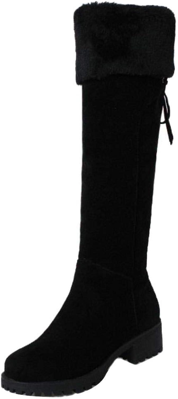 AicciAizzi Women Flats Knee Boots Zip