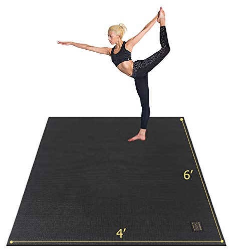 """Gxmmat Large Yoga Mat 72""""x 48""""(6'x4') x 7mm for Pilates Stretching Home Gym Workout, Extra Thick Non Slip Anti-Tear Exercise Mat"""