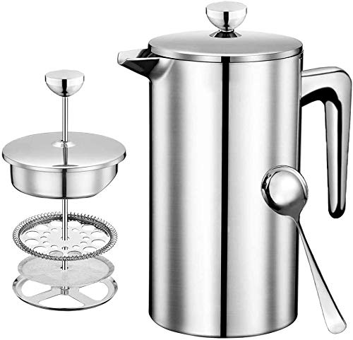DELERKE French Press - French Press Coffee Maker. French Press Stainless...