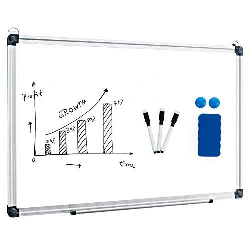 COSTWAY Whiteboard Magnettafel Schreibttafel Pinnwand Wandtafel Board Memoboard mit Alurahmen viele Größen wählbar(50x35cm)