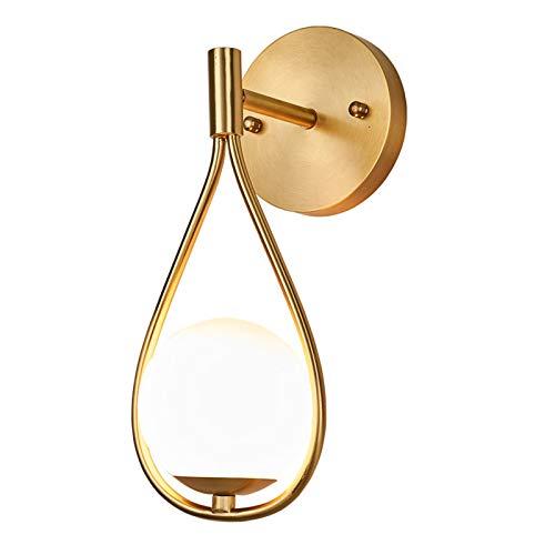 -aplique pared Creative Nordic Copper Gold Lámpara de pared Minimalista Dormitorio Personalidad de la cama Magic Bean Sala de estar Fondo de pared Sofá Sofá Estudio Cafetería Luz Iluminación dormitori