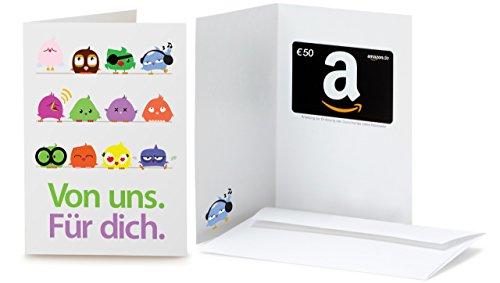 Amazon.de Geschenkkarte in Grußkarte - 50 EUR (Vögel)