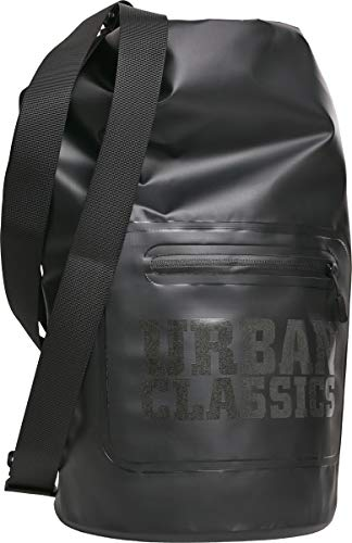 Urban Classics Unisex Rucksack Dry Backpack Damen / Herren Seesack, 60 cm, 20 Liter, Black