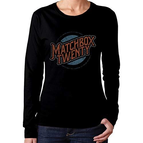 Matchbox Twenty Logo Shirt Womens Long Sleeve Roundneck Tshirt Fashion Tops Soft Cotton Tee Black