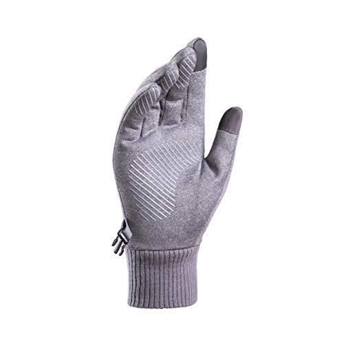 Damen Herren Handschuhe Winter Laufen Touchscreen Outdoor Sport Gloves Motorrad Fahrrad Radfahren Gloves Camping Wandern Outdoor Warm Vorwinter Laufhandschuhe Frühling Herbst (Grau)
