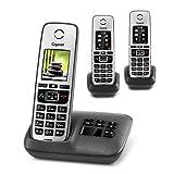 Gigaset Family Trio mit Anrufbeantworter - 3 schnurlose Telefone mit großem, farbigem Display und...