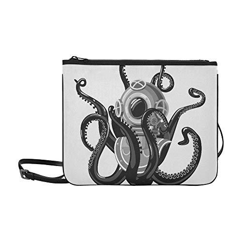 Sacs pour filles mode Vintage combinaison de plongée Octopus rétro plongée sous-marine réglable bandoulière sac d embrayage pour femmes filles dames sacs à bandoulière mignon sac à bandouliè