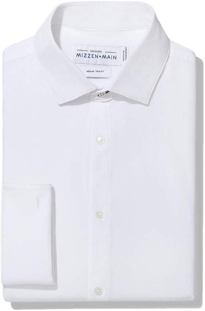 Mizzen + Main Connery Mens Slim Fit Tuxedo Shirt, Solid White