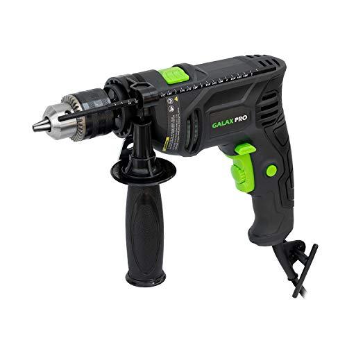 Bohrmaschine, GALAX PRO Schlagbohrmaschine 600W 3000 RPM, Hammer und Bohrer 2 in 1, Tiefenanschlag und Schnellspann-Bohrfutter, verstellbarer Zusatzhandgriff