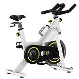 Cyclette Household silenzioso biciclette al coperto Sport e fitness Attrezzature Fitness fisso biciclette verticale cyclette multicolore opzionale Cardio Trainer ( Color : White , Size : 122x99x53cm )