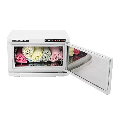 EBTOOLS 2-en-1 Calefacción y Desinfección UV Esterilizador Toallas con Revestimiento de Acero Inoxidable 16L para el Hogar Salón de Belleza, 45 x 33 x 30 cm