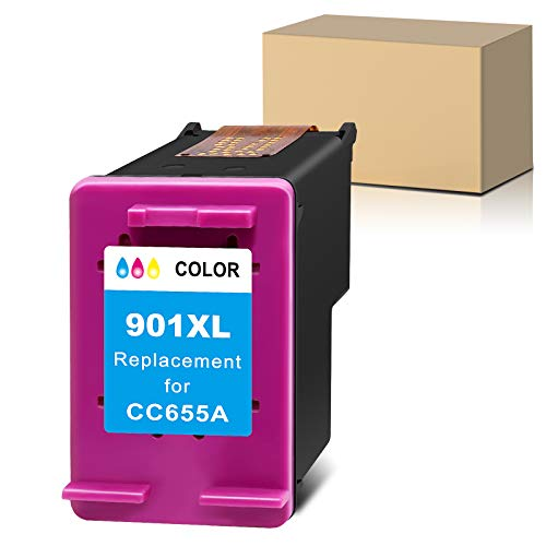 Sunnieink - Cartucho de tinta remanufacturado para impresora HP 901 901XL para HP OfficeJet 4500 J4680 J4580 G510a G510b G510g G510h G510n J4524 J4525 J4535 (1 tricolor)