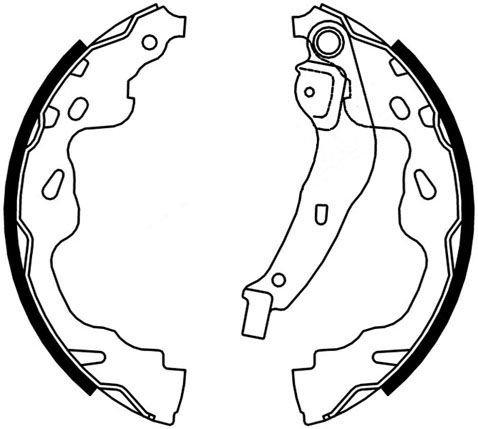 Mâchoires de frein arrière GNC 724-5320062J00