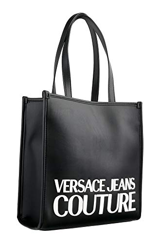 Versace Jeans Couture Black Medium Shopper Tote Bag for womens