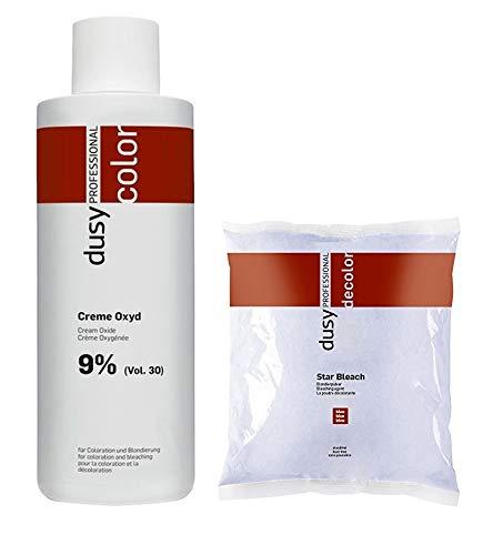 Dusy Star Bleach Blondierpulver 500g im Beutel + Dusy Professional Creme Oxyd 1000ml 9%