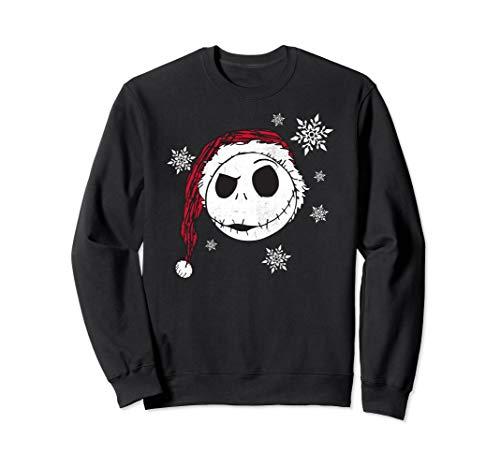 Disney Nightmare Before Christmas Santa Snowflake Sweatshirt
