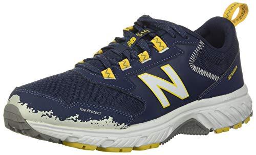 New Balance Men's 510 V5 Trail Running Shoe, Natural Indigo/Chromatic Yellow, 11 D US