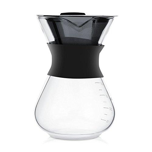 Cafetera manual de goteo manual Cafetera Cafetera de vidrio con filtro de acero inoxidable