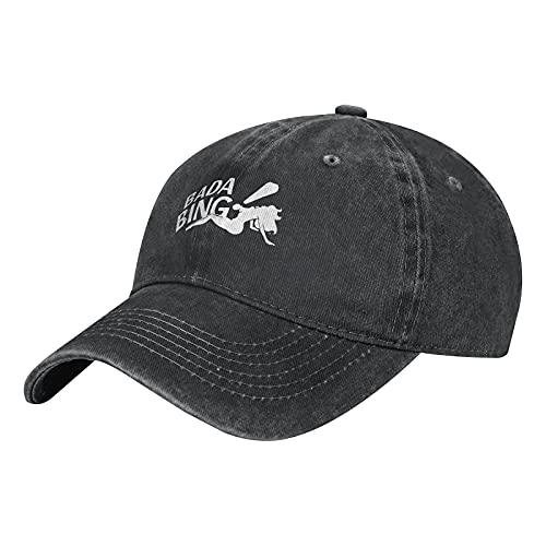 gymini Bada Bing Gorra de béisbol ajustable de algodón lavado unisex Deportes Papá Sombrero Trucker Cowboy Cap