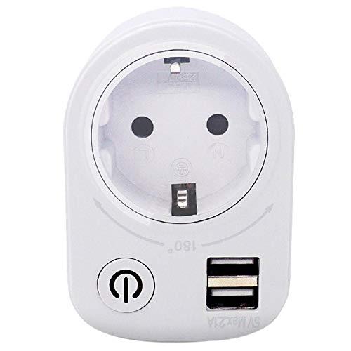 BYFRI 5v 2.1a Elektrische Dual USB Ladegerät-Adapter Intelligent Stecker, Wandsteckdose Ladenetzschalter Outlet Home Reise (eu)