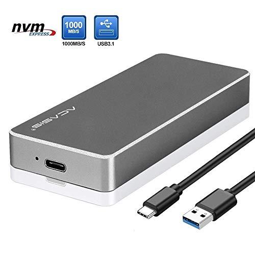 Hard Drive Enclosures,NVMe Enclosure PCIe M.2 2280 SSD Box,Type-C USB 3.1 NVME Solid State Hard Disk Case,HDD Enclosure for Samsung, Intel, WD Black,