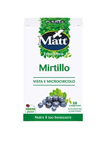 Matt - Integratore Mirtillo - Integratore Alimentare per il Benessere di Vista e Microcircolo - 50 Compresse (20 g)