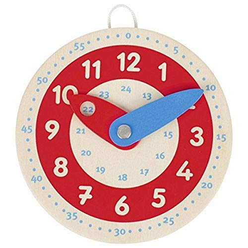 Goki 58485 Lernuhr Learn to Tell The Time, gemischt, 10 cm