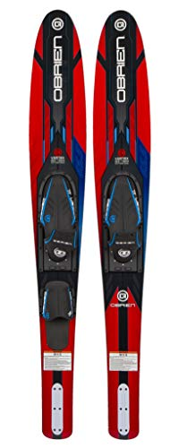 O'Brien Vortex Widebody Combo Water Skis 65.5', Red