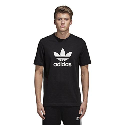 adidas Originals Camiseta de trébol para hombre - negro - X-Small