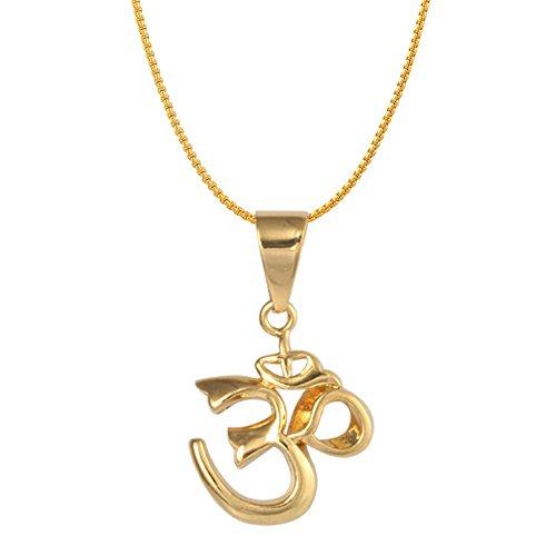 18K Gold Om Necklace