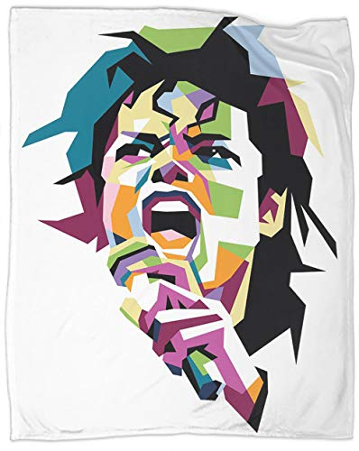 Wpap Pop Art Microfiber Blanket Legend michael Jackson Fleece Blanket Full Size Super Soft Long Shaggy Blankets Decorative blanket Comfortable and elegant 90 x 70 Inch