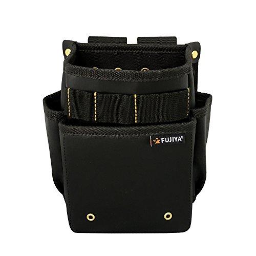 フジ矢 腰袋スモール2段 黒金 PS-32BG 水 汚れ こすれに強い素材