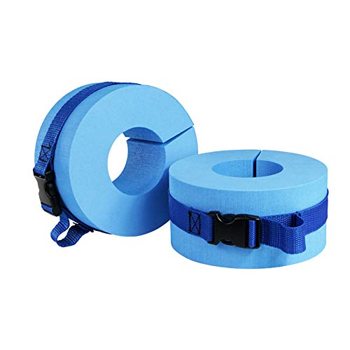 New SUNJULY 2PCS Swimming Weights Aquatic Cuffs for Ankles Arms, Swimming Foam Water Exercise Aerobi...