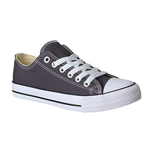 Elara Unisex Sneaker Turnschuh Low Top Textil Schuhe Chunkyrayan CHF Dk.Grey-41