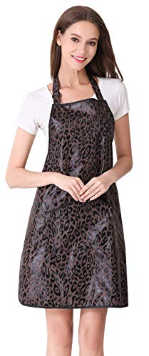 Hair Stylist Apron for Salon Hairdresser, Barber Haircut Styling Apron With Pockets-Leopard Print