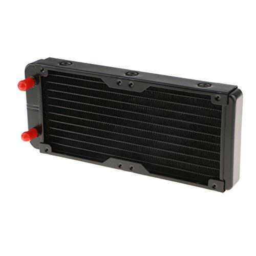 MagiDeal Aleación de Ordenador Radiador 240mm 10 Tubos Enfriador de Agua de Refrigeración para Disipador de Calor de CPU