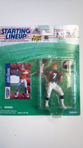 Starting Lineup John Elway / Denver Broncos 1997 NFL Action Figure & Exclusive NFL Collector Trading Card