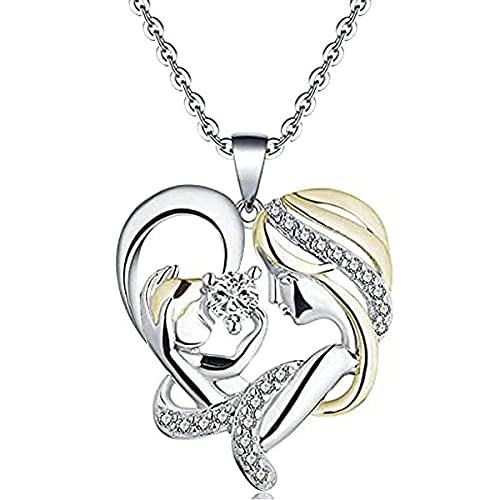 En sus brazos Collar, colgante de corazón de amor Collar de moda para mujer Aprecia momentos especiales Joyas para mujeres Día de la madre/Cumpleaños/Día de aniversario (mixing)